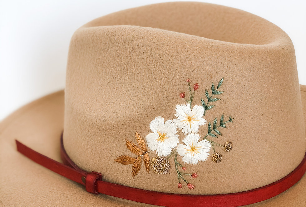 Ella | Embroidered Felt Fedora