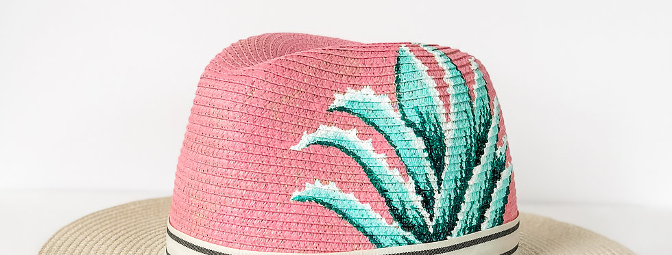 Valeria | Painted Straw Panama