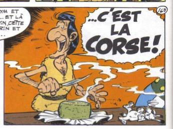 Albert Uderzo... Astérix en Corse
