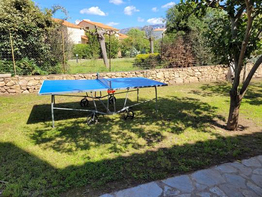 a Extérieur : table de ping pong