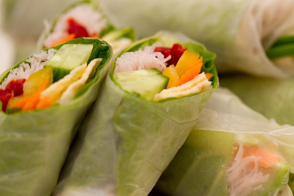 דפי אורז מגולגלים spring rolls