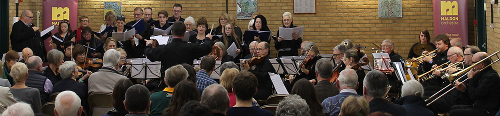 Joint concert with the Choir of St Andrews, Boreham in December 2017
