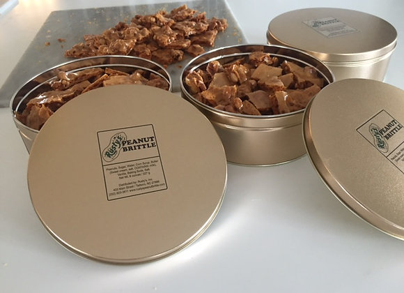 24 ounce Gift Tin of Homemade Peanut Brittle