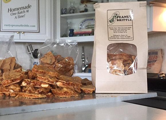 8 ounce Bag of Homemade Peanut Brittle