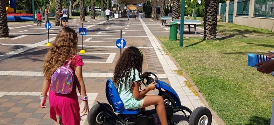 פעילות הפנינג בטיחות בדרכים לילדי עובדי חברת החשמל
