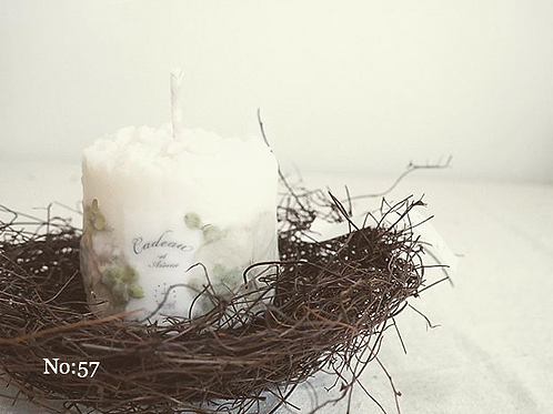Soy wax Candle + nest