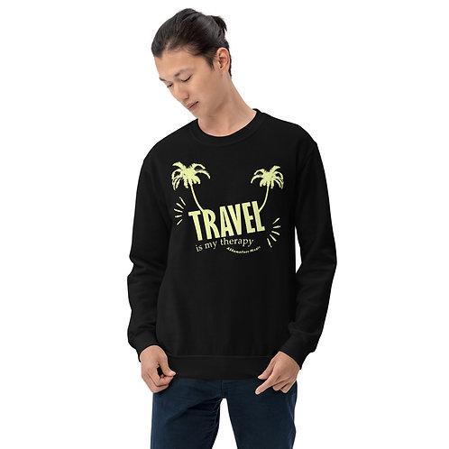 Men's Crew Neck Sweatshirt | Travel is my therapy