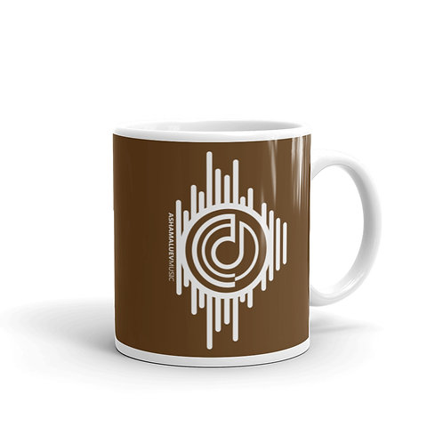 Brown Glossy Mug with AShamaluevMusic Logo