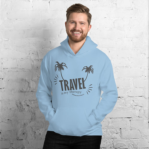 Men's Heavy Blend Hoodie Light Colors | Travel is my therapy