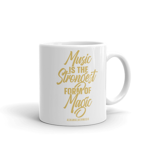 White Mug 'Music is the Strongest Form of Magic'