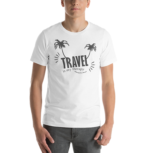 Men's Short-Sleeve T-Shirt Light Сolors | Travel is my therapy