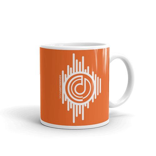 Orange Mug with AShamaluevMusic Logo