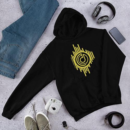 Men's Black Hoodie with Gold AShamaluevMusic Logo