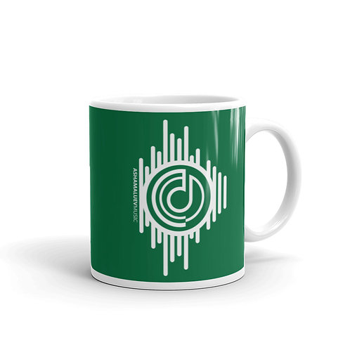 Green Mug with AShamaluevMusic Logo