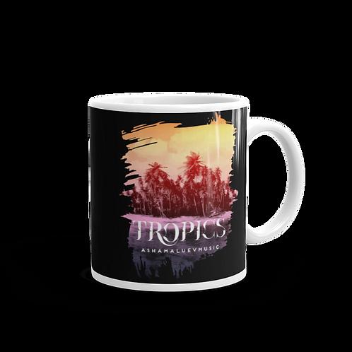 Black Mug 'Tropics'