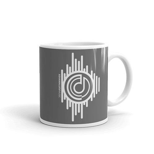 Grey Glossy Mug with AShamaluevMusic Logo
