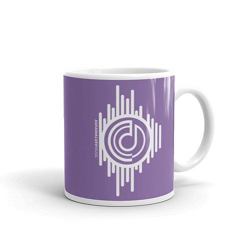 Purple Glossy Mug with AShamaluevMusic Logo