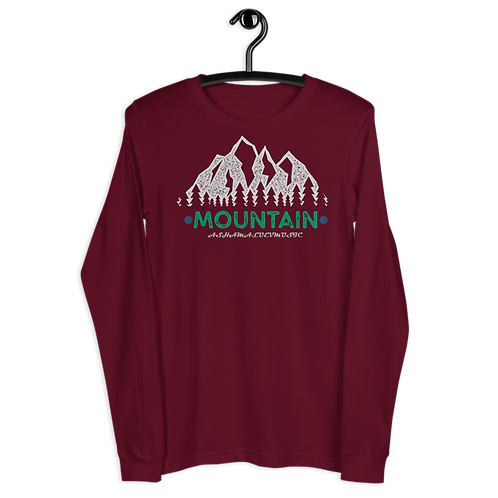 Long Sleeve Tee Dark Colors | Mountain