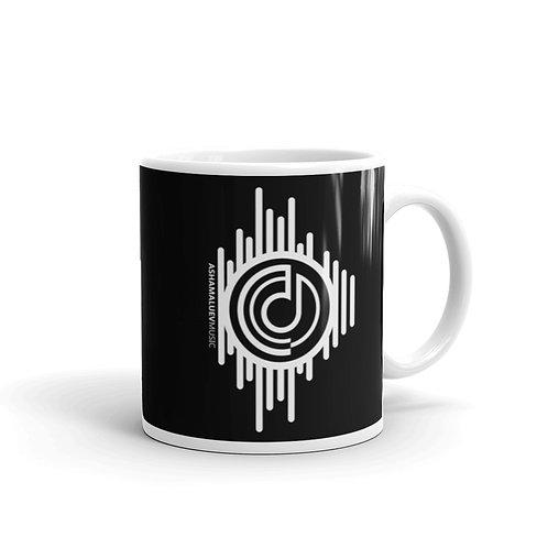 Black Mug with AShamaluevMusic Logo