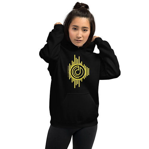 Women's Black Hoodie with Gold AShamaluevMusic Logo