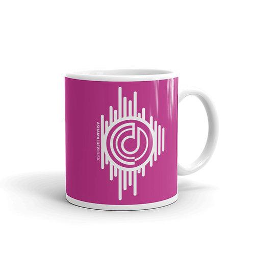Pink Mug with AShamaluevMusic Logo