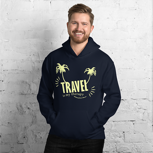 Men's Heavy Blend Hoodie Dark Colors | Travel is my therapy