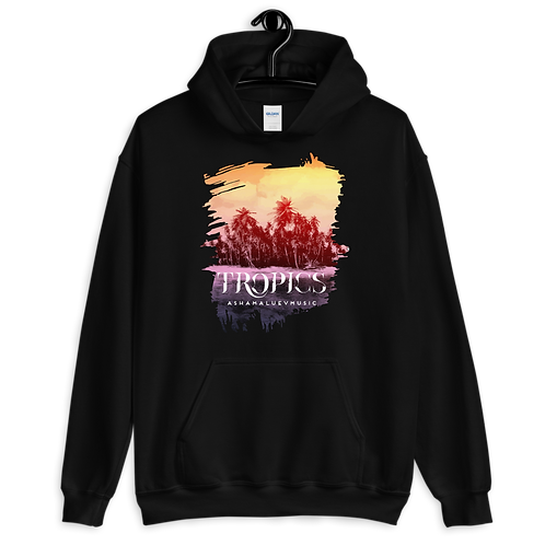 Hoodie With Tropical Picture