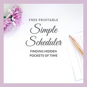 Simple, Printable Weekly Planning Sheet