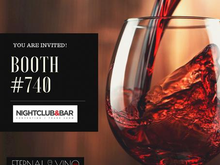 Eternal Vino Will Be At The Nightclub & Bar Show in Las Vegas, Jun 29 -30, 2021!