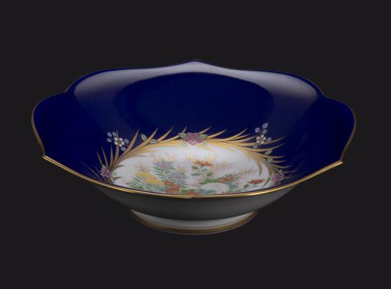 Ruri Chrysanthemum w. Gold Bowl | Koransha US