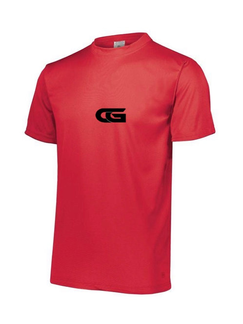 "Red Dry Fit T- Shirt with ""CG"""