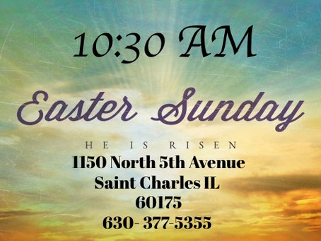 Easter Service  1030 Am