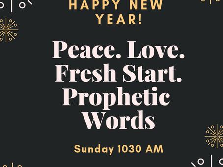 Join Us Dec 30 @ 1030 Am 2019 Prophecy