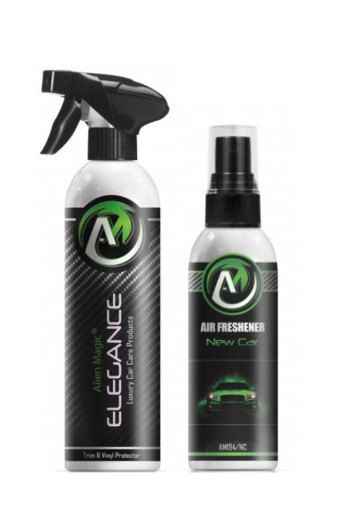 Interior Dressing & Air Freshener - Alien Magic Elegance & New Car
