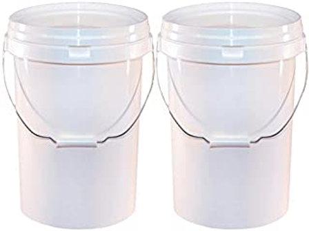 20ltr Wash Buckets, Grit Guards & Lids (X2)