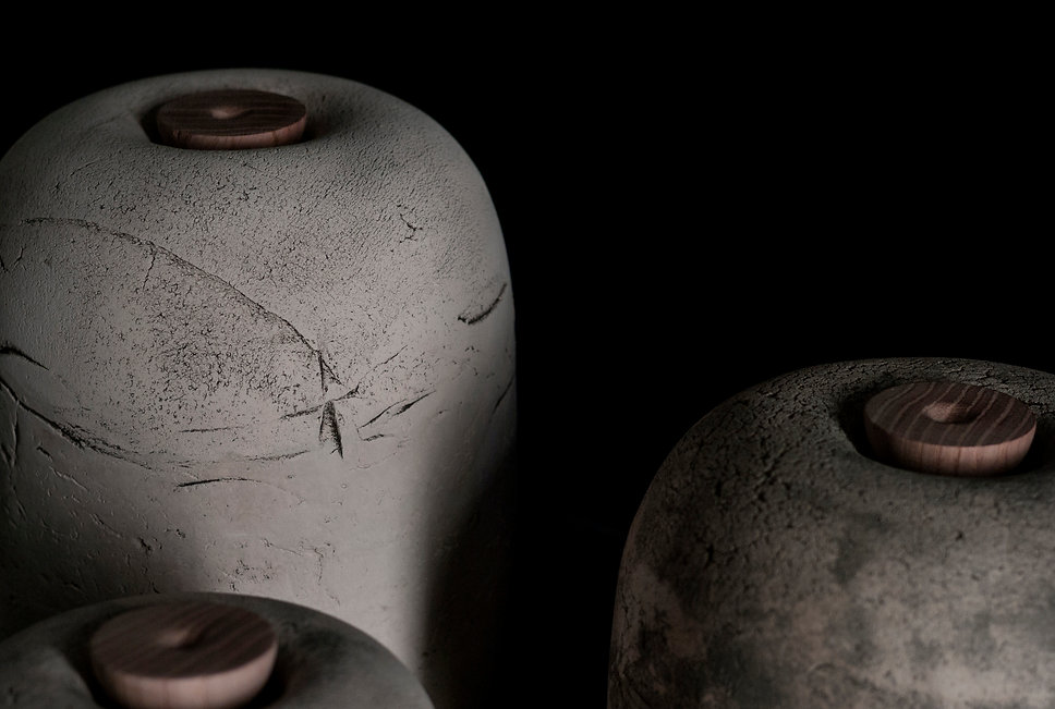 circulusurns, biodegradable, urn, urna, design, minimalism, surface, texture, handmade, Vilnius, Lithuania