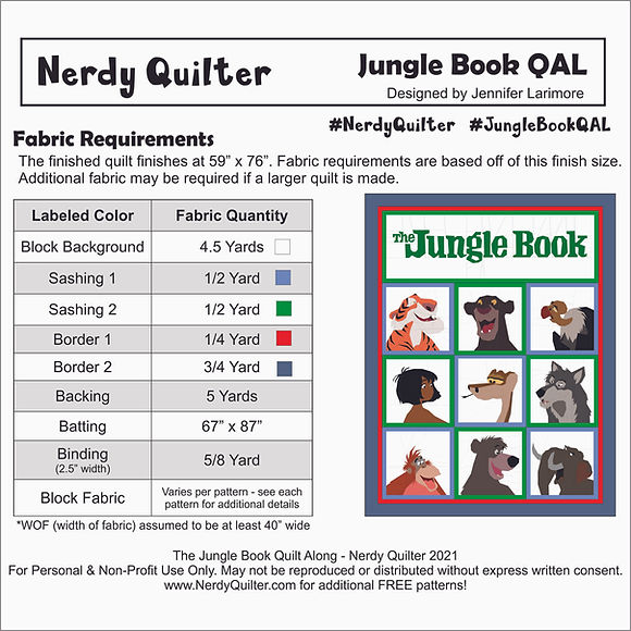 Final Pattern - Overall Fabric Requireme