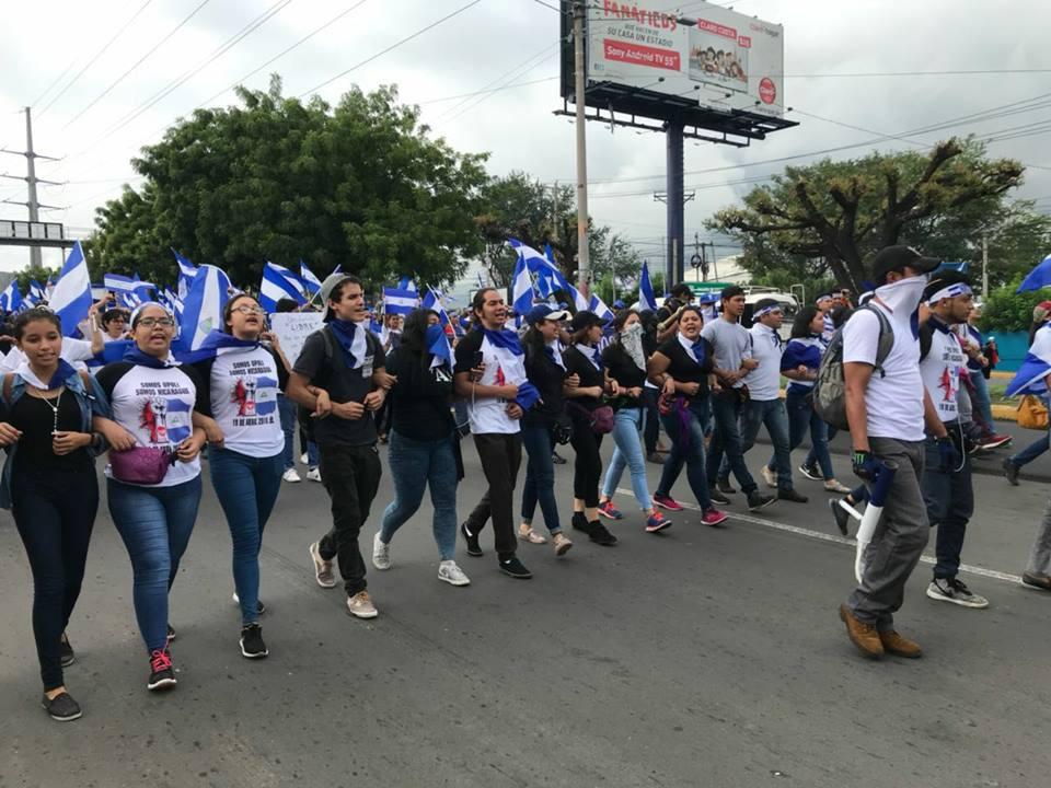 El sector estudiantil encabezó muchas de las manifestaciones en contra de la dictadura - Fotografía cortesía