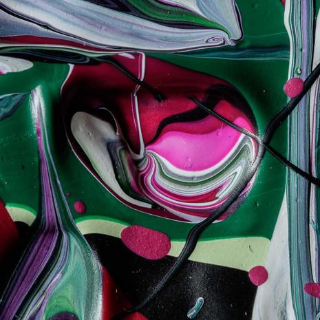 Detail from The topography of malachite