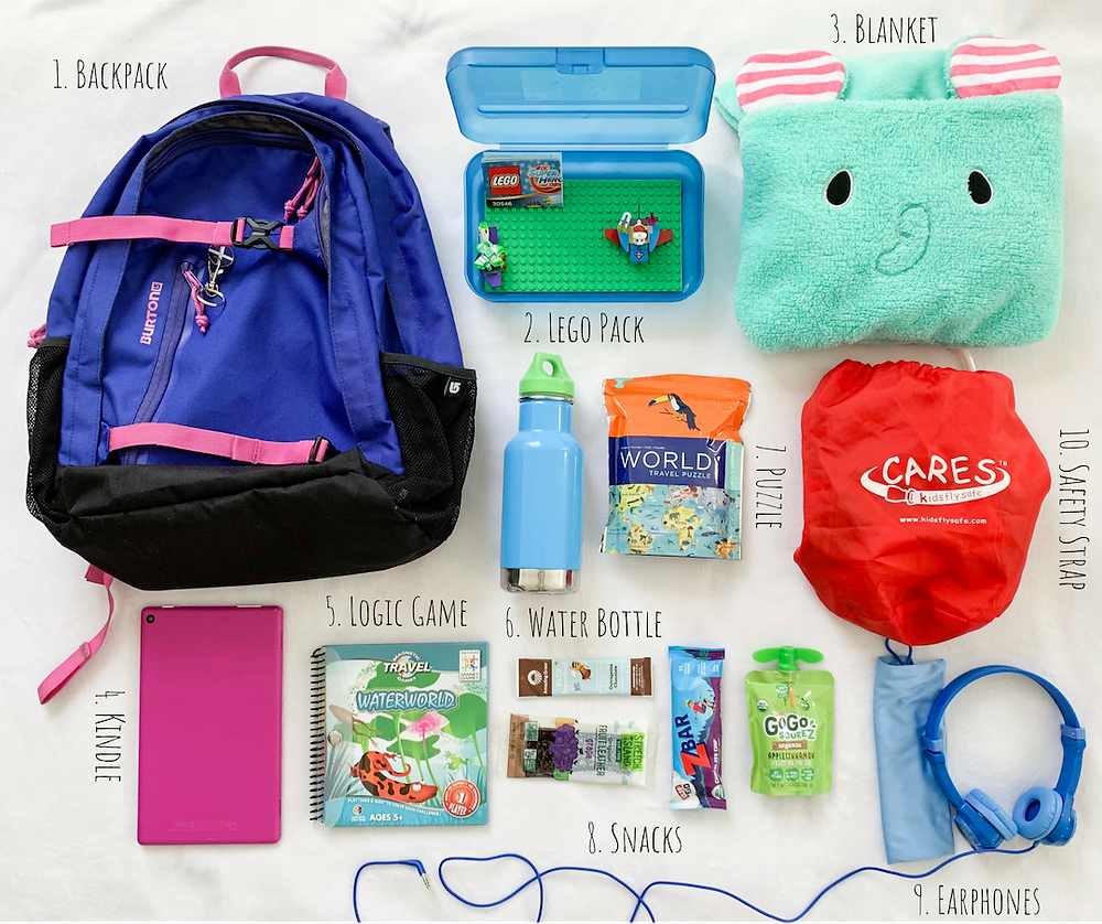 What to pack in a child's backpack for travel