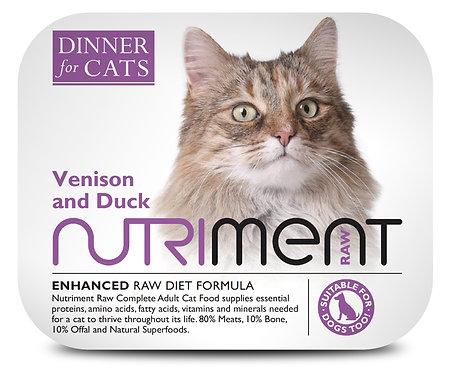 Nutriment Dinner For Cats - Venison & Duck (175g)