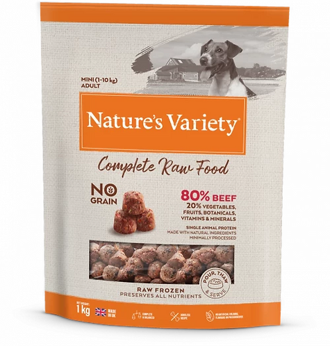 Nature's Variety Raw Food  BEEF FOR SMALL BREED DOGS