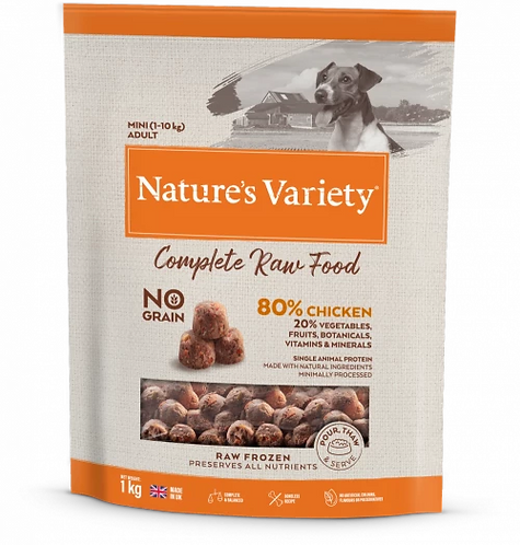 Nature's Variety Raw Food  CHICKEN FOR SMALL BREED DOGS