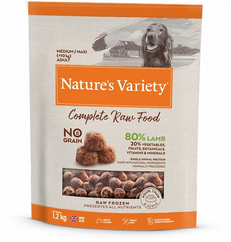 Nature's Variety Raw Food LAMB FOR ADULT DOGS