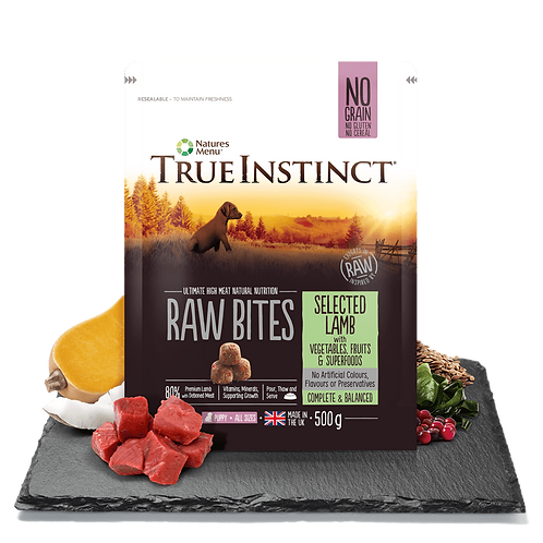 True Instinct Puppy Raw Bites Selected Lamb 500g