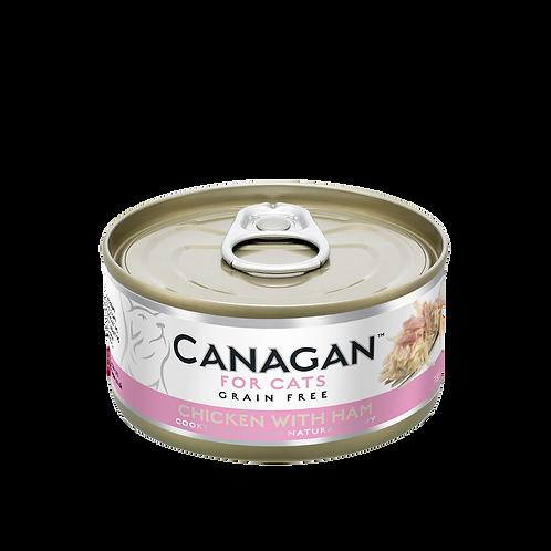 Canagan Chicken with Ham 75g All Lifestages Cat Wet