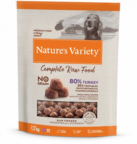 Nature's Variety Raw Food  TURKEY FOR ADULT DOGS