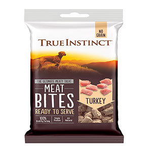 True Instinct Freeze-Dried Turkey Meat Bites Dog Treats 20g