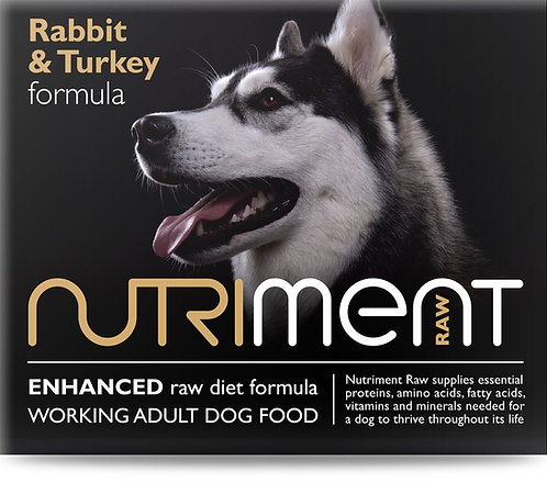 Nutriment Rabbit with Turkey formula - Adult Tub