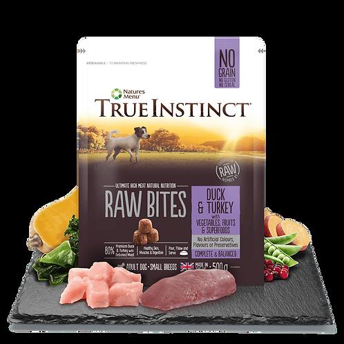 True Instinct Small Breed Raw Bites Selected Duck & Turkey 500g